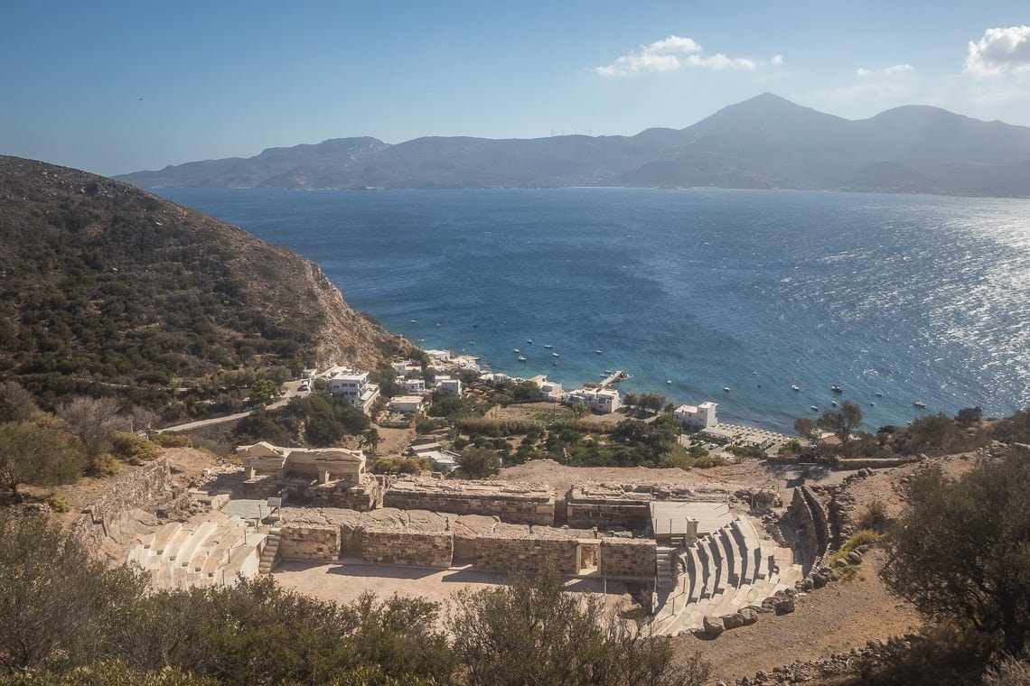 picture of a Roman theatre built on a hill side