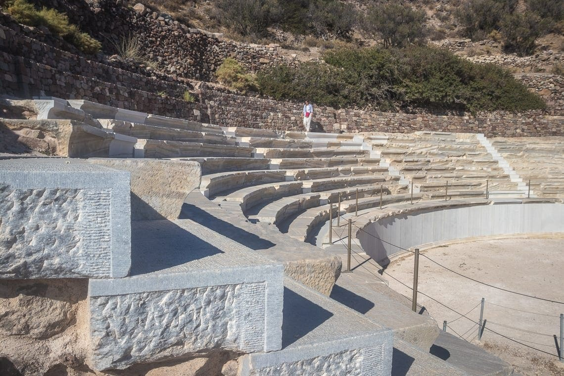 marble steps of the ancient amphitheatre of Milos